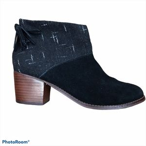 Toms Leila Wool Suede Ankle Boots 7